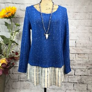 Entro Boutique Ruffled Bottom Sweater Tunic